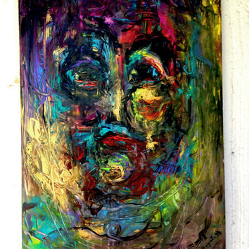 Figurative/Abstract Painting: Woman in the mirror