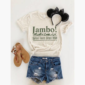 June 30th Shipping//Jambo Shirt//Animal Kingdom Shirt//Safari Shirt//Disney Shirt//Kilimanjaro Safar Shirt