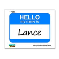 Lance Hello My Name Is Sticker