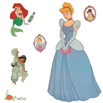 Disney Princess Accent Sticker Royal Portrait Wall Decal Set