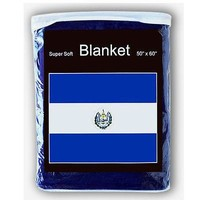 "Bandera El Salvador Flag Fleece Blanket Cobija 5 X 4.2 Feet 60""x 50"""