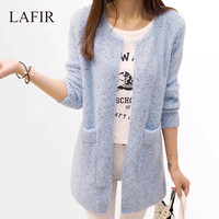 Long Cardigan Women  New Fashion Autumn Winter Sweater Women Long Sleeve Knitted Cardigan Female Tricot Women Clothes