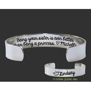 Being your sister Bracelet | Sister Gift
