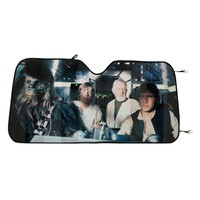 Licensed cool Star Wars Millennium Falcon Han Solo ACCORDION SUNSHADE Auto Car Truck Sun Shade