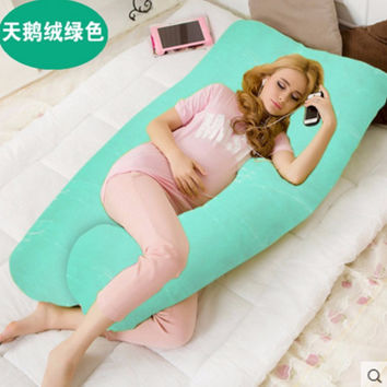 2016 New Comfortable U Shape  Body Pillow Pregnancy Maternity Velvet Pillow