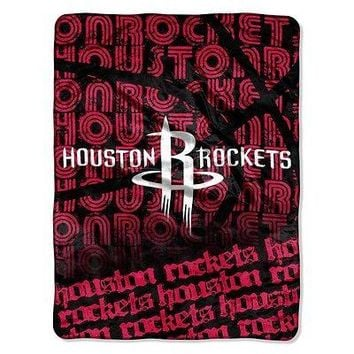 Houston Rockets NBA 46x60 Redux Micro Raschel Plush Throw