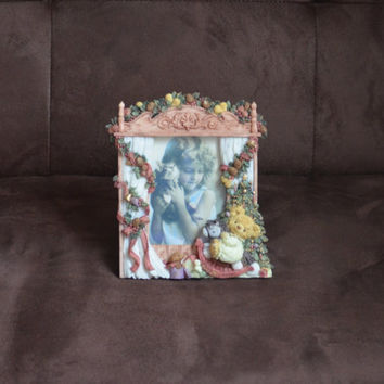 Vintage Frame Teddy and Me Collection by WBI Inc. Christmas Frame 1993