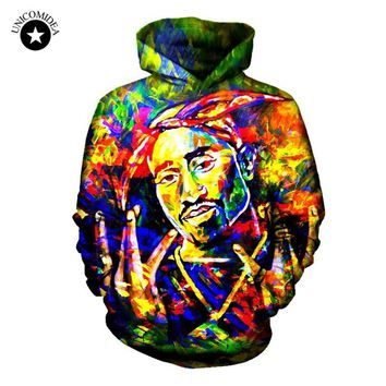 Hip Hop Tupac Hoodies 3d Sweatshirts Tie Dye Men Rapper 2pac Clothing Hoody Streetwear Casual Long Sleeve Tops Winter Pullovers