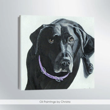CUSTOM DOG  portrait -Dog Portrait-Oil Painting-pet lovers-dog face--6x6in-Pets-dog face painting-gift ideas-Puppy-cats-art- home decor-