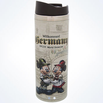 Disney Parks Epcot Germany Mickey & Minnie Willkommen! Travel Tumbler New