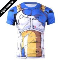 2016 Ball Z Men 3D Dragon Ball Z T Shirt Vegeta Goku Summer Style Jersey 3D Tops Fashion Clothing Tees Plus