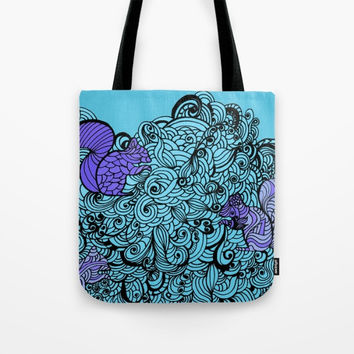 Tote Bag, canvas tote bag, Zentangle tote bag, printed tote, gifts for her, designer tote, Squirrel zentangle tote, Zentangle tote, art tote