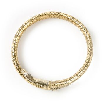 Whiting And Davis Vintage snake mesh necklace