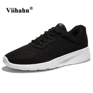 Viihahn Mens Running Shoes Spring And Summer Breathable Mesh Lace Up Sneakers Outdoor Walking Shoes Athletic Sport Shoes