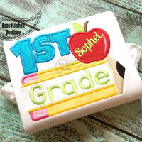 Back to School - First Grade - Customized Tee Shirt - Customizable