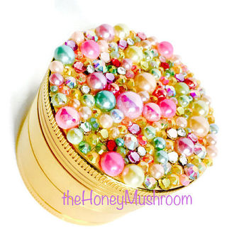 SALE  Weed Grinder  | RAINBOW Bubble Bling Crystal | Cannabis pot grinder Marijuana Herb Grinder