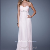 Strapless Sweetheart La Femme Formal Prom Gown 20625