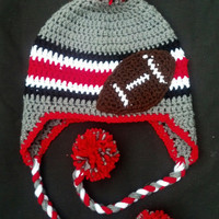 Ohio State Football Ear Flap Hat (other teams available)