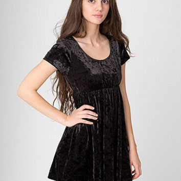 Stretch Velvet Babydoll Dress