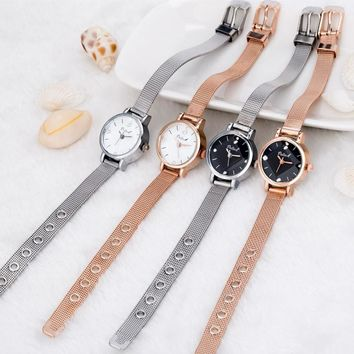 FUNIQUE New Style Ladies Wrist Watch Luxury Crystal Women Casual Dress Watches Small Hours Clock Gift Simple Watches Girls
