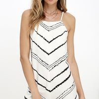 RVCA Established Black and Ivory Print Romper