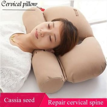 Buckwheat  Dedicated Cervical Pillow Adult Vertebral Repair Pillows Home Health  Cassia Seed Pillows For Parents Birthday Gift