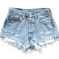 Size 30 high waisted shorts light denim