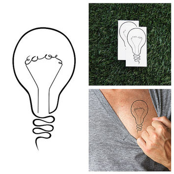Bright Idea - Temporary Tattoo (Set of 2)