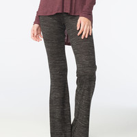 LILY WHITE Marled Space Dye Womens Flare Pants | Leggings