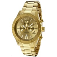 Invicta 1270 Men's Specialty Gold Plated Stainless Steel Gold Tone Dial Chronograph Watch