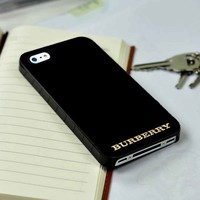 Burberry Gold Logo iPhone 4 or 4s 5 5s 5c case and Samsung galaxy s3 s4 case