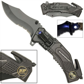 Spring Assist LED Tactical Rescue Knife M & P