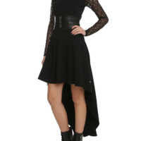 Royal Bones By Tripp Black Lace Sleeve Salem Dress