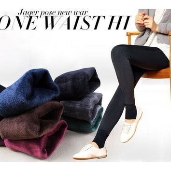 PEAPHY9 autumn and winter fashion explosion models plus thick velvet warm seamlessly integrated inverted cashmere leggings
