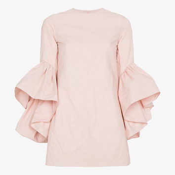 MINI DRESS WITH RUFFLED SLEEVES