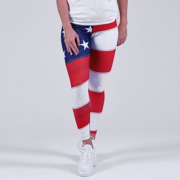 Classic USA American Flag Yoga Pants