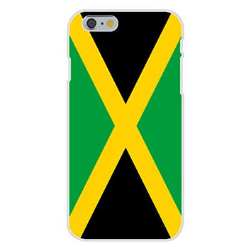 Apple iPhone 6 Custom Case White Plastic Snap On - Jamaica - World Country National Flags