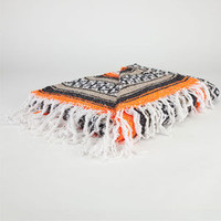Bright Stripe Serapa Blanket Orange/White One Size For Men 22745074901
