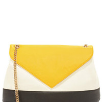 Block It To Me Yellow Color Block Purse