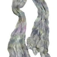 Silky Smooth and Cool Purple Tie-Dye Summer Scarf