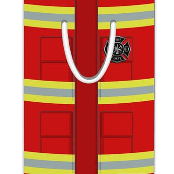 Firefighter Red AOP Aluminum Paper Clip Bookmark All Over Print
