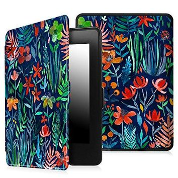 Fintie Case for Kindle Paperwhite - The Thinnest and Lightest PU Leather Cover Auto Sleep/Wake for All-New Amazon Kindle Paperwhite (Fits All 2012, 2013, 2015 and 2016 Versions), Jungle Night