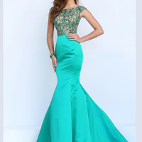 Embellished Bodice Sherri Hill Formal Prom Gown 32358