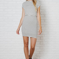 Della Striped Popover Dress-FINAL SALE