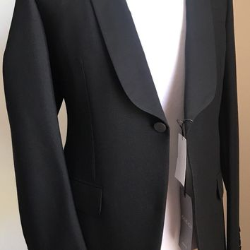 New $3600 Gucci Wool / Mohair Tuxedo Suit Black 40R US ( 50R Eu) Italy