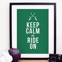 Keep Calm & Ride On Harry Potter Slytherin by ohdearmolly on Etsy