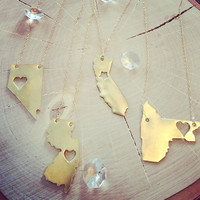 State Pride Gold Necklace