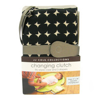 JJ Cole Collections Diaper Changing Clutch - Grey Drops