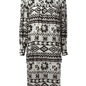Yves Saint Laurent Vintage etamine ethnic print dress