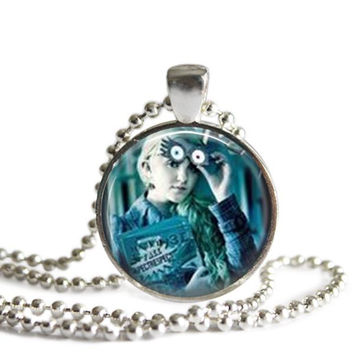 Luna Lovegood Silver Plated Picture Pendant Harry Potter Necklace